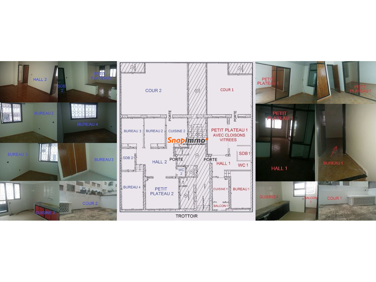 Bureau Agdal - 575 m² sur 2 Niveaux - 1/2