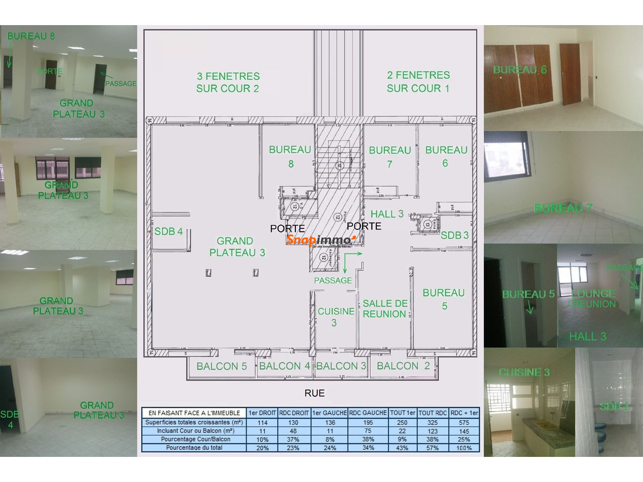 Bureau Agdal - 575 m² sur 2 Niveaux - 2/2