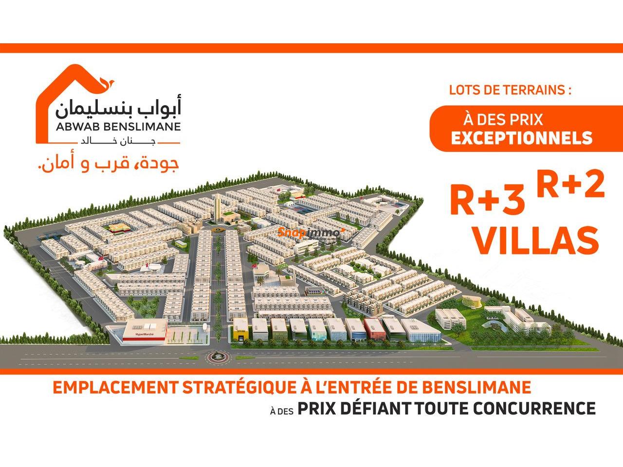 Lots de terrain sur Benslimane à partir de 96 m² - 1/5